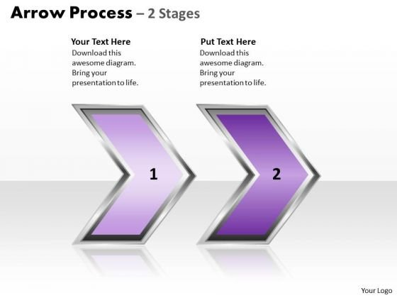 Sales Diagram Arrow Process 2 Stages Style 2