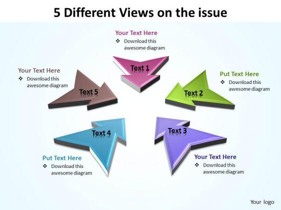 Sales Diagram Arrows 5 4 Consulting Diagram