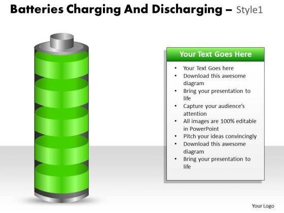 Sales Diagram Batteries Charging And Discharging Style 1 Marketing Diagram