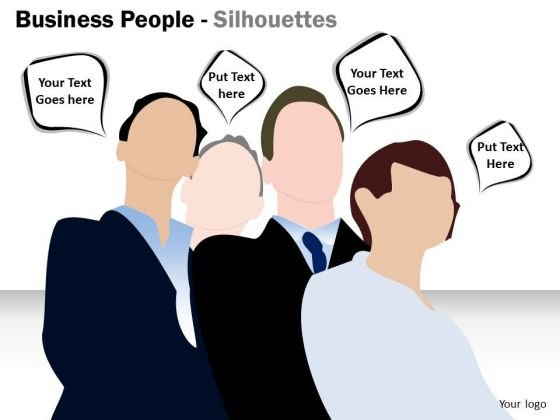 Sales Diagram Business People Silhouettes Business Framework Model