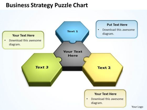 Sales Diagram Business Strategy Puzzle Chart Business Diagram