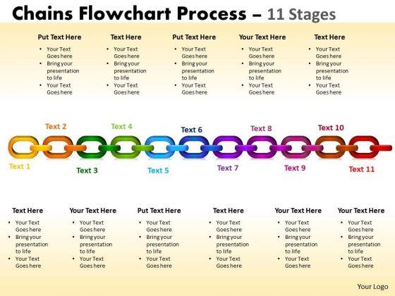 Sales Diagram Chains Flowchart Process Diagram 11 Stages Consulting Diagram