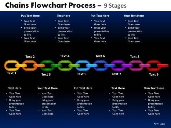 Sales Diagram Chains Flowchart Process Diagram 9 Stages Consulting Diagram