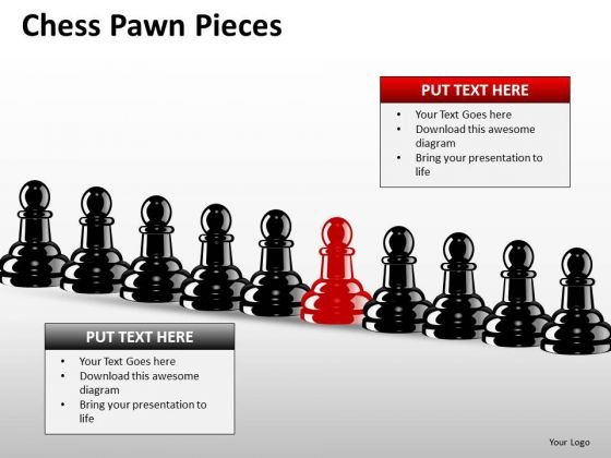 Sales Diagram Chess Pawn Pieces Business Diagram