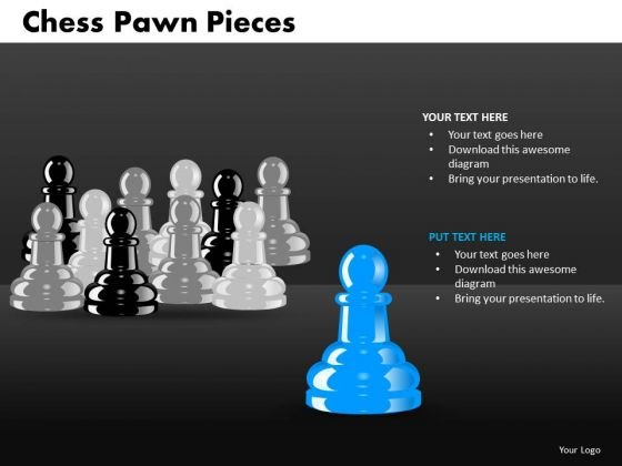 Sales Diagram Chess Pawn Pieces Business Framework Model
