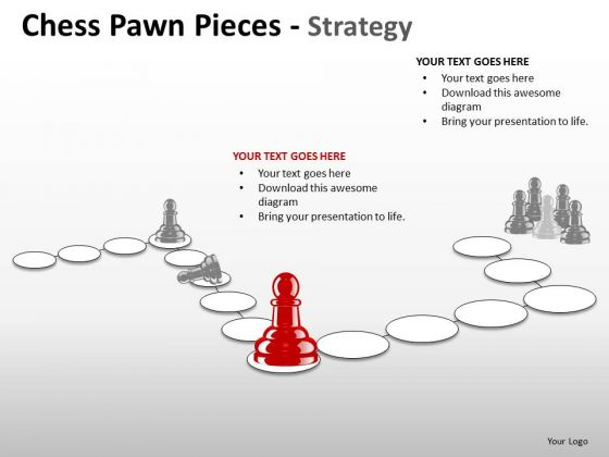 Sales Diagram Chess Pawn Pieces Strategy Business Cycle Diagram