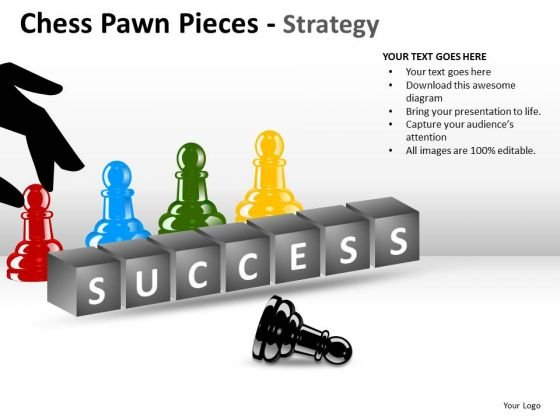 Sales Diagram Chess Pawn Pieces Strategy Business Diagram