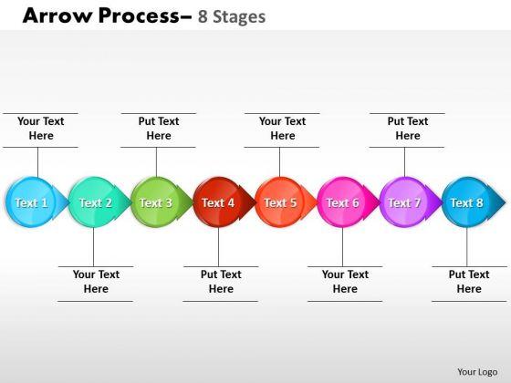 Sales Diagram Circle Arrow 8 Stages Marketing Diagram