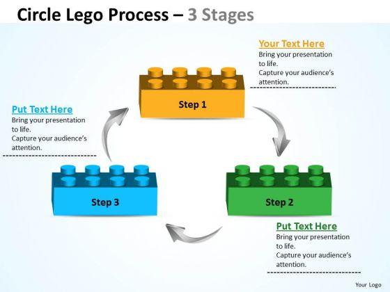 Sales Diagram Circle Lego Process 3 Stages Marketing Diagram