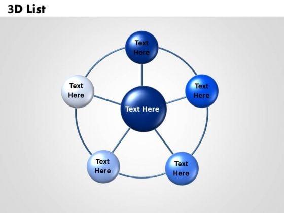 Sales Diagram Circular 3d List Business Diagram