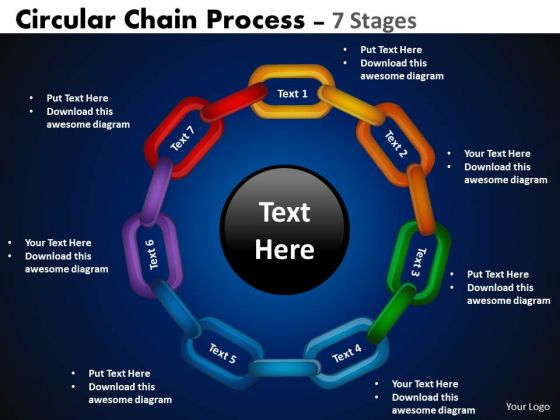 Sales Diagram Circular Chain Flowchart Process Diagram 7 Stages Business Cycle Diagram