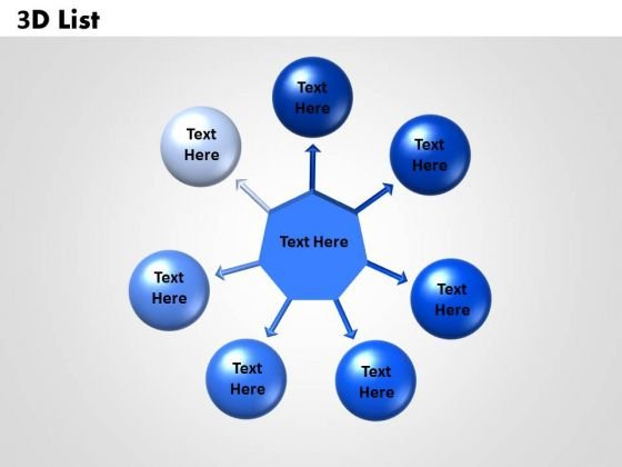 Sales Diagram Circular Diagram 3d List Marketing Diagram