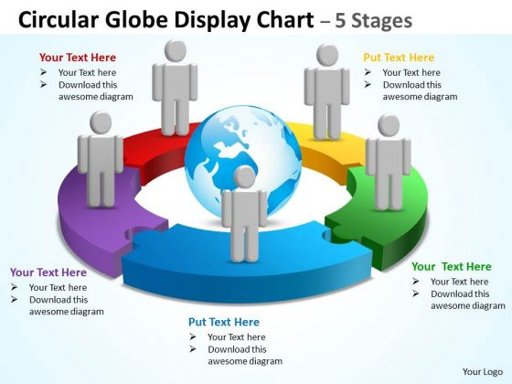 Sales Diagram Circular Globe Display Chart 5 Stages Consulting Diagram