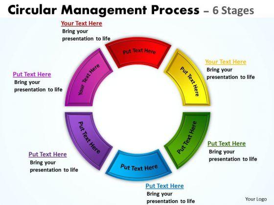 Sales Diagram Circular Management Process 6 Stages Business Diagram