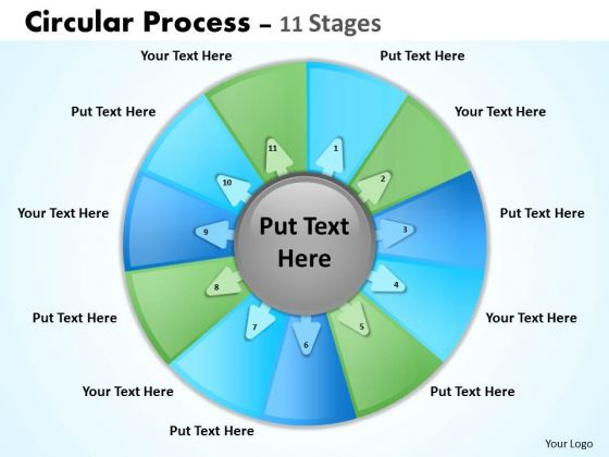 Sales Diagram Circular Process 11 Stages Consulting Diagram