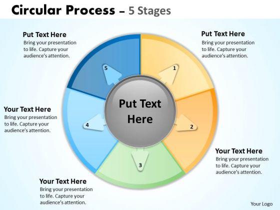 Sales Diagram Circular Process 5 Stages Business Diagram