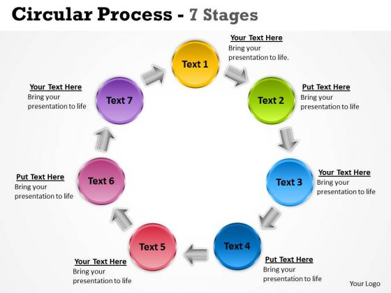 Sales Diagram Circular Process 7 Stages Marketing Diagram