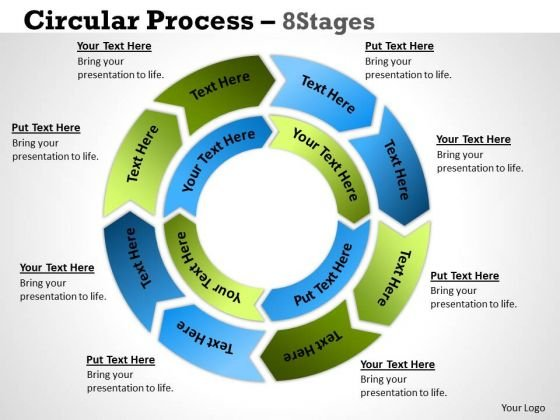 Sales Diagram Circular Process 8 Stages 3 Business Diagram