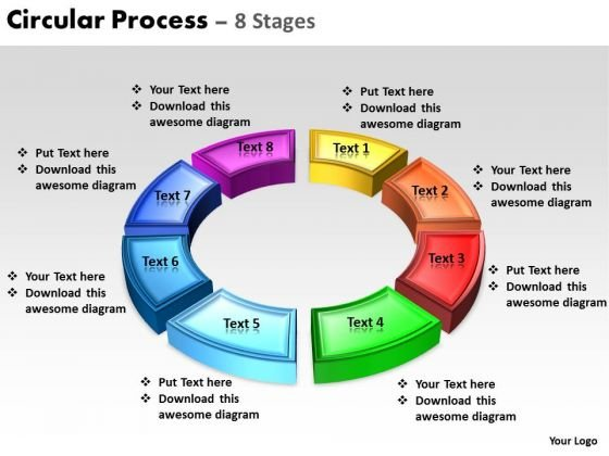 Sales Diagram Circular Process 8 Stages Marketing Diagram