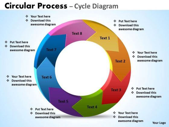 Sales Diagram Circular Process Cycle Diagram 8 Stages Business Finance Strategy Development