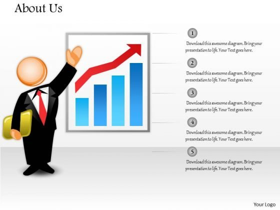 Sales Diagram Companys Performance About Us Layout Consulting Diagram