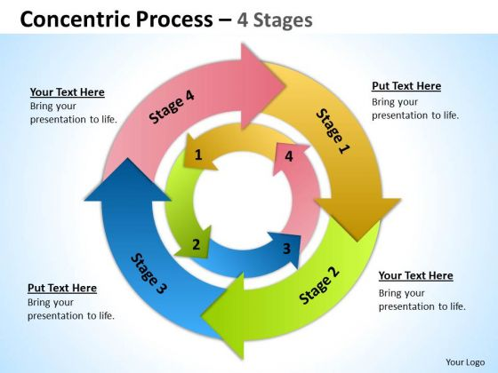 Sales Diagram Concentric Process 4 Stages 9 Business Diagram