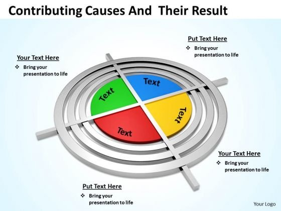 Sales Diagram Contributing Causes And Their Result Business Cycle Diagram