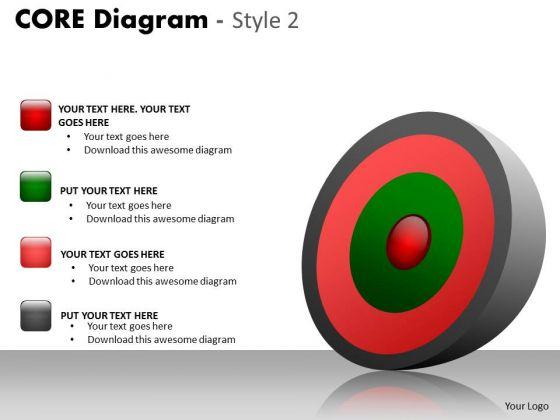 Sales Diagram Core Diagram With Icons Strategic Management