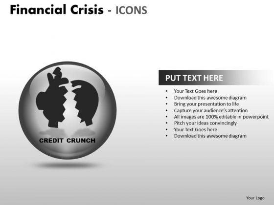 Sales Diagram Financial Crisis Icons Strategic Management