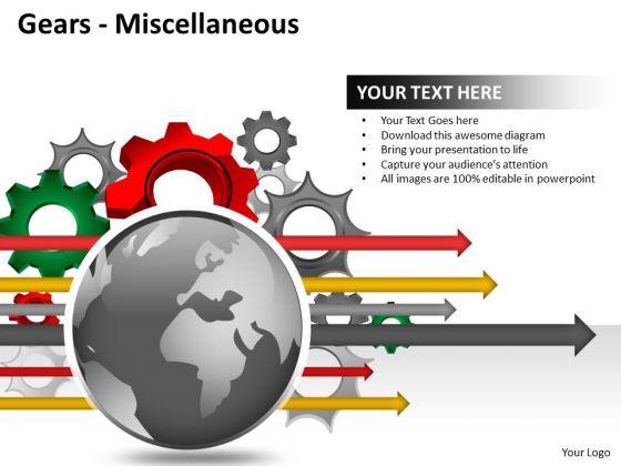 Sales Diagram Gears Misc Business Finance Strategy Development
