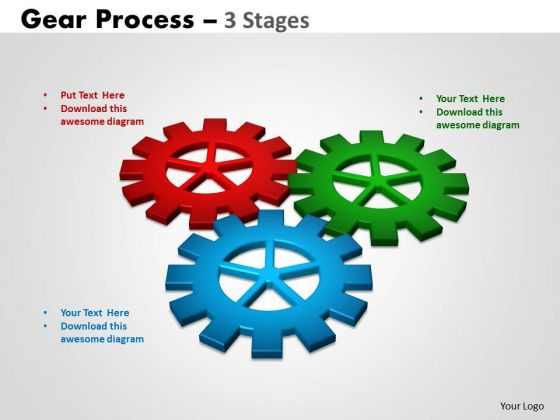 Sales Diagram Gears Process 3 Stages Business Cycle Diagram