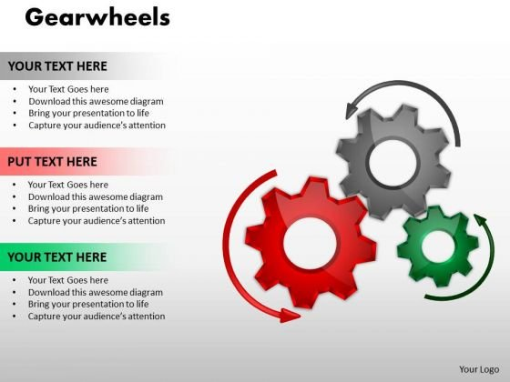 Sales Diagram Gearwheels Business Diagram