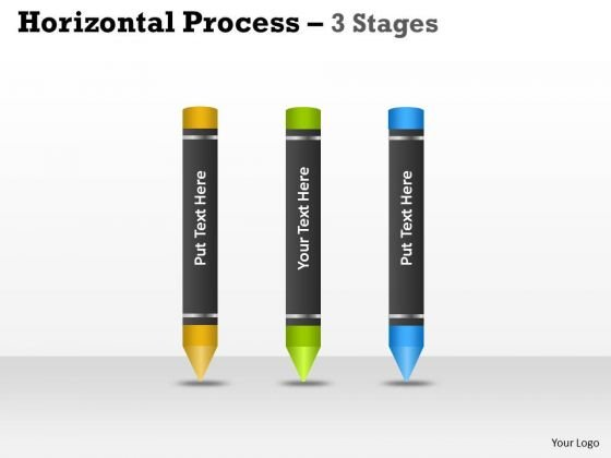 Sales Diagram Horizontal Process 3 Stages Design Business Cycle Diagram