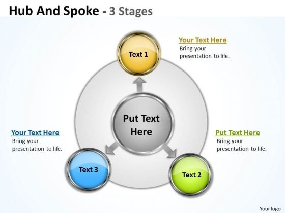 Sales Diagram Hub And Spoke 3 Stages Sales Diagram
