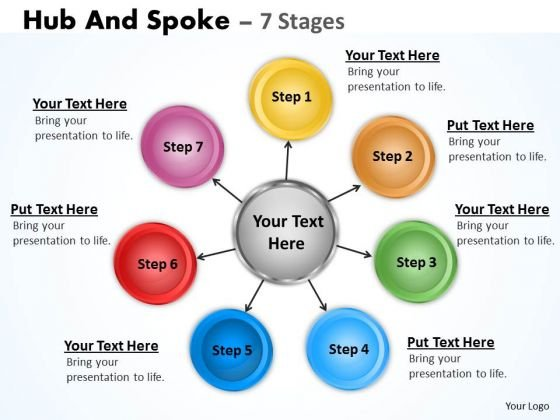Sales Diagram Hub And Spoke 7 Stages Marketing Diagram