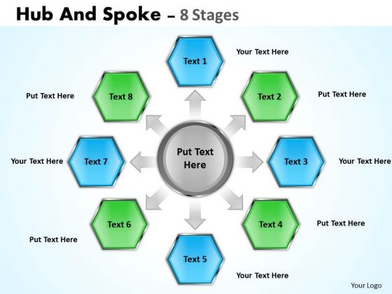 Sales Diagram Hub And Spoke 8 Stages Business Diagram