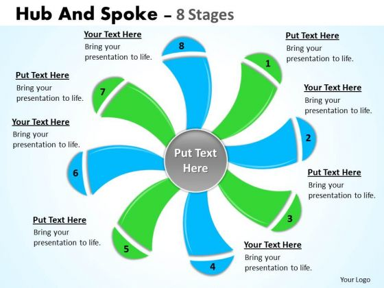 Sales Diagram Hub And Spoke 8 Stages Marketing Diagram