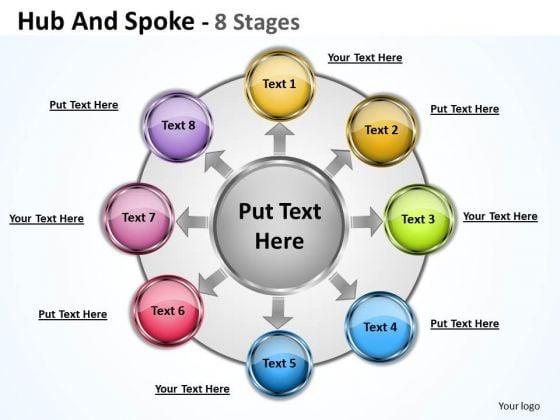 Sales Diagram Hub And Spoke Marketing Diagram