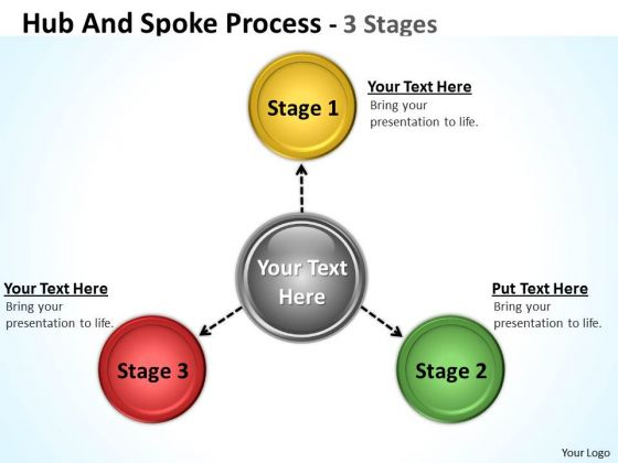 Sales Diagram Hub And Spoke Process 3 Stages Marketing Diagram