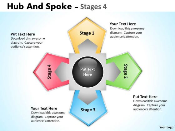 Sales Diagram Hub And Spoke Stages Strategic Management
