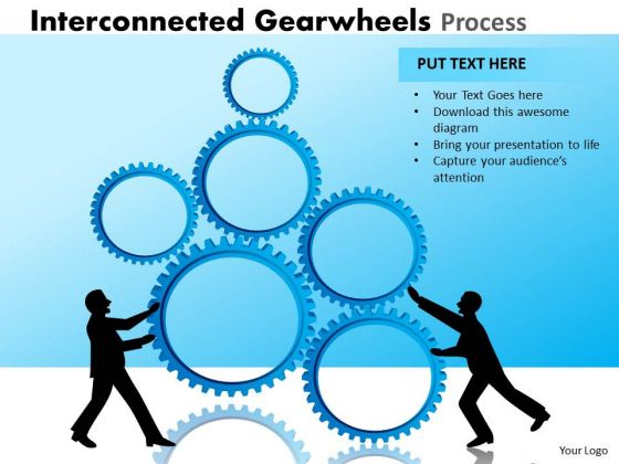 Sales Diagram Interconnected Gearwheels Process Marketing Diagram