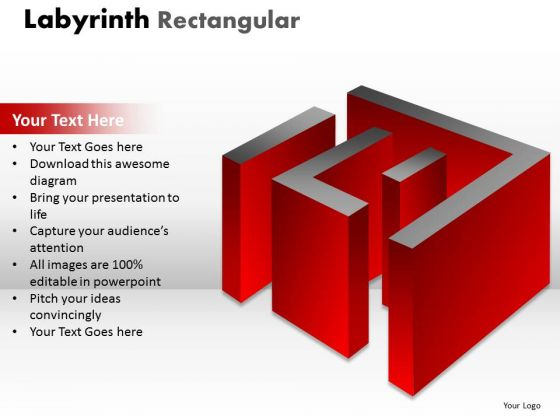 Sales Diagram Labyrinth Rectangular Red Design Business Finance Strategy Development