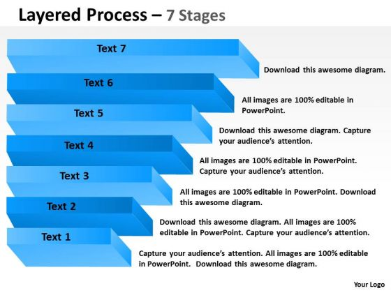 Sales Diagram Layered Process With 7 Stages For Process Strategy Diagram