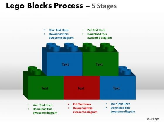 Sales Diagram Lego Blocks Process 5 Stages Business Cycle Diagram