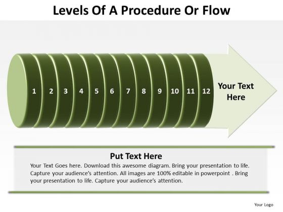 Sales Diagram Levels Of A Procedure Or Flow 12 Stages Marketing Diagram