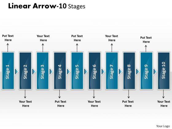 Sales Diagram Linear Arrow 10 Stages Marketing Diagram