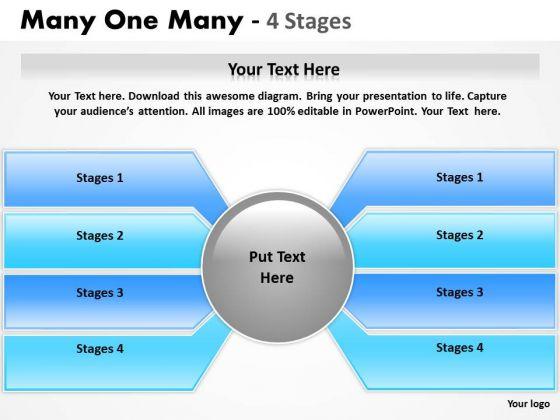 Sales Diagram Many One Many 4 Step Strategic Management