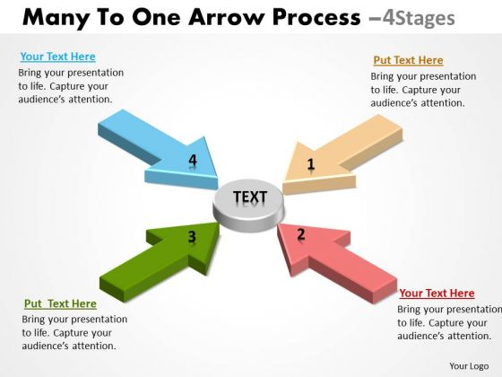 Sales Diagram Many To One Arrow Process 4 Stages 3 Strategy Diagram