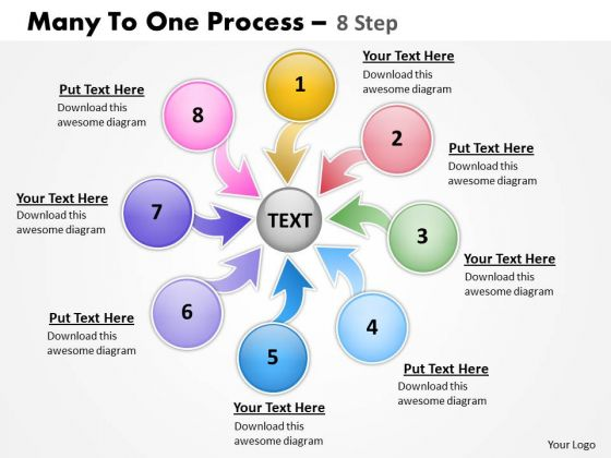 Sales Diagram Many To One Process 8 Step Strategic Management