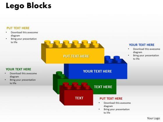 Sales Diagram Marketing Diagram 4 Stages Lego Blocks Consulting Diagram Business Diagram
